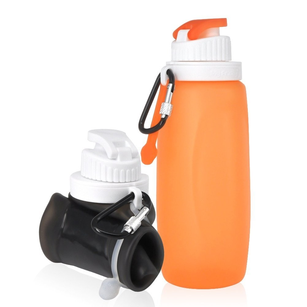 998aab6cae Collapsible Water Bottle Silicone Outdoor Water Canteen For Travel Trip  Camping Cycling Fishing Climbing Sports
